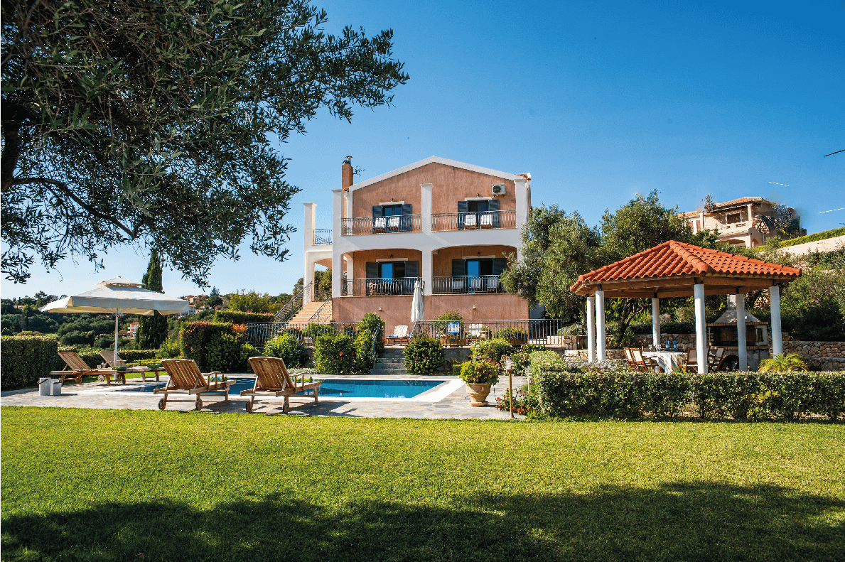 Large family holiday villa kefalonia with pool