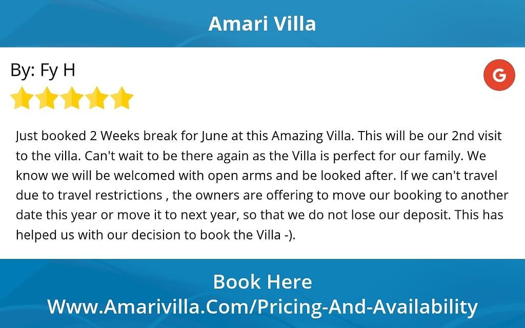 Guest Review for mari VIlla