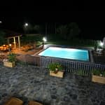 26 Pool and Garden at Night
