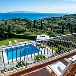 Take in the views from the upstairs Balcony